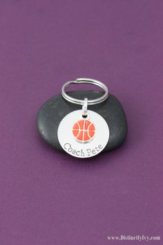 Personalized Basketball Keychain | Coach Gift https://www.etsy.com/listing/189473691