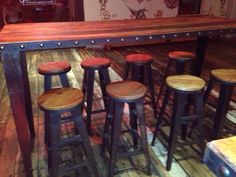 We manufacture to your specification. Bar Tables, Industrial Style, Bar Stools, Chair, House, Furniture, Home Decor, Bar Stool Sports, Decoration Home