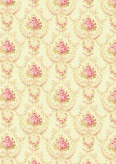 Floral Shabby chic pattern paper soft mint with pink roses. Vintage Ephemera, Vintage Paper, Scrapbook Paper, Scrapbooking, Backgrounds Wallpapers, Shabby Chic Wallpaper, Bedroom Wallpaper, Iphone Wallpaper, Decoupage Paper