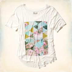 Floral Geometric Graphic Tee