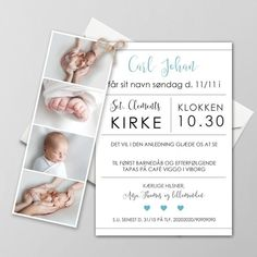 Baptism Invitations, Invitation Cards, Baby Barn, Viborg, Signs, Christening, Diy And Crafts, Projects To Try, Abs