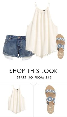 """""""Untitled #2042"""" by elephant10 ❤ liked on Polyvore featuring H&M and Jack Rogers"""