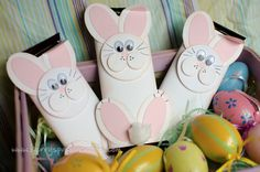 Repurpose Crystal Light Container Cute bunny art project (could use containers to hold ear buds)