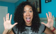 Love her hair length and cut! Article and video on SheaMoisture products for 3B curly hair.