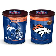 Denver Broncos Popcorn Tin | Three Gallon Gift Tin with 7 Flavors
