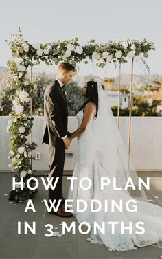 Yes, you can plan a wedding in under 3 months! Our wedding planning experts tell all their tips & advice on how to quickly plan your wedding in a few months (or even a few weeks) stress-free. From finding venues to booking last-minute vendors, this is the ultimate guide to planning a wedding quickly.