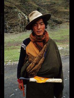 Portrait of a Tibetan nomad