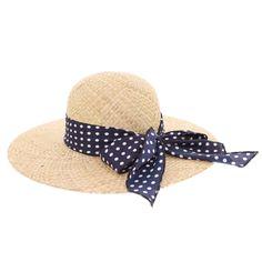 Chapeau paille Herman Headwear Naturel Vichy bleu #chapeau #hermanheadwear #mode #nouveautée sur @hatshowroom