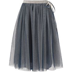 Richie House Girls Skirt with Tulle and Ribbon (£16) ❤ liked on Polyvore featuring skirts