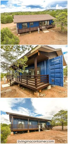 Beautiful Calming Space We continue to discover for you. Our container house on today's tour is from Arizona, USA. Shipping Container Home Designs, Shipping Container House Plans, Container House Design, Tiny House Design, Shipping Containers, Building A Container Home, Container Buildings, Dream House Plans, Small House Plans