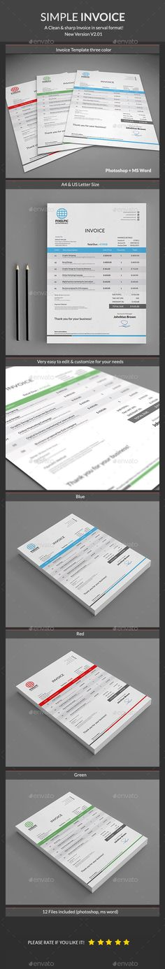 Invoice Excel Invoice design, Proposal templates and Print templates - new invoice