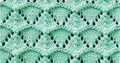 FREE Written instructions for Shell Lace stitch. The Shell lace stitch is really fun to knit whether you are an experienced knitter or you are new lace knitter.