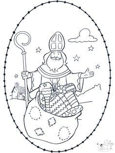 Sankt Nikolaus Stickkarte 4