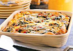 Egg, sausage, veggie casserole