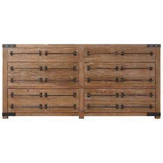 "72"" Bonner Reclaimed Wood Double Vanity for Semi-Recessed Sink - Wax Pine"