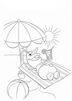 Happy Olaf Coloring Page