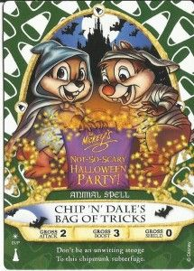 Chip N Dales Bag of Tricks - New Sorcerers of the Magic Kingdom card.