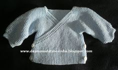 Das Mãos da Teresinha: Casaco de tricô para bebé - PAP tam.0-3 meses