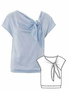 Uni Fashion, Fashion Sewing, Fashion Outfits, Dress Sewing Patterns, Blouse Patterns, Blouse Tutorial, Sewing Blouses, Blazer Pattern, Just Style