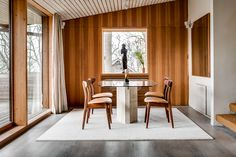Built in the villa is in Molle, Sweden, and underwent a renovation by architect Jan Engvall in Photo by Per Jansson. Limestone Countertops, Sweet Home, Turbulence Deco, Interior Architecture, Interior Design, Refuge, Nautical Home, Open Plan Living, Minimalist Decor