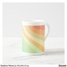Rainbow Waves Tea Cup