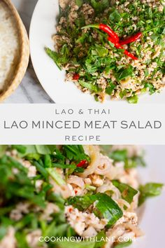 Learn how to make Thai and Lao Larb - this is a spicy minced meat salad that you will absolutely love. #asianfood #thaifood