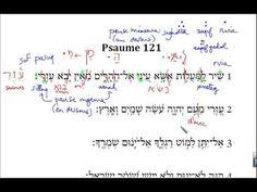 Initiation à l'hébreu biblique - 13bis. Psaume 121 (début)