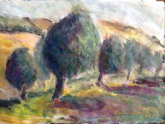 Olive  Trees  Oil/bonnie rotenberg