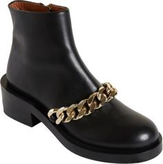 Curb Chain Ankle Boot
