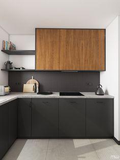 Minimal Kitchen, Modern Kitchen Design, Interior Design Kitchen, Kitchen Sets, Home Decor Kitchen, Kitchen Furniture, Apartment Kitchen, Interior Exterior, Interiores Design