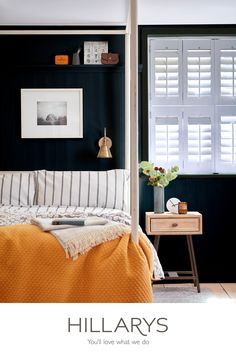 Awesome Bedrooms, Beautiful Bedrooms, House Beautiful, Bedroom Shutters, White Shutters, Cedar Shutters, Cheap Bed Sheets, Bedroom Orange, Luxury Bedding Sets