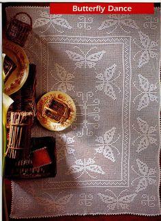 """Rectangular tablecloth """"Butterfly dance"""""""