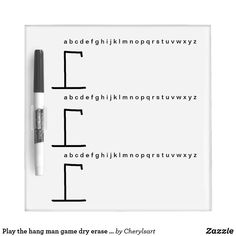 Play the #hangman game on a dry erase board for repeated fun. Great #game for reinforcing #spelling too!