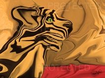 """A Tiger for Tiago"" - 18th in the Series #art #artwork #distortionartusa #distortionart #artist"