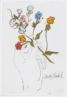 Andy Warhol: Hand with Flowers, 1956.