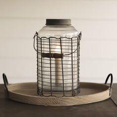 Wire-frame Jar Lamp, electric Yarrow Avenue Collection www.yarrowavenuecollection.com Home Decor Store Farmhouse Decor  Farmhouse Decor Store