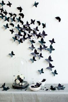 Etiquetada Con Mariposas De Papel Paredes Decoradas Con Mariposa