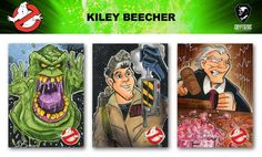Ghostbusters Trading Cards sketch previews part 14 | Cryptozoic Entertainment