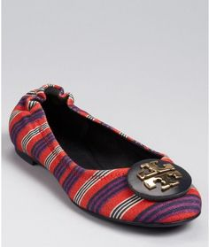 5a2900d0865d Tory Burch Flats - Reva Printed Canvas Shoes - All Shoes - Bloomingdale s