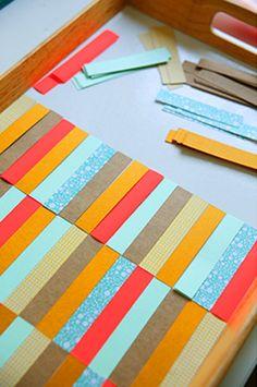 Customiser un plateau en bois avec du papier