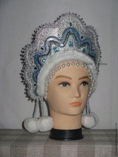 """Купить кокошник """"снегурочка"""". - кокошник, снегурочка, снежинка, танцы, выступление, театр, головной убор, Праздник"""