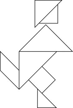 Tangrams, invented by the Chinese, are used to develop geometric thinking and spatial sense. This tangram depicts a runner. Tangram Puzzles, University Of South Florida, Shapes Worksheets, Instructional Technology, Kids Party Games, Kindergarten Worksheets, Geometric Art, Paper Piecing, Inventions