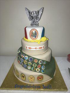Eagle Court Of Honor Cake Merit Badges Scout BSA CoH