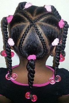 Hairstyles braids Braids for Kids - Styles de tresses pour les filles Tranças para crianças - Estilos de trança para meninas / # Little Girl Braids, Black Girl Braids, Braids For Kids, Girls Braids, Lil Girl Hairstyles, Black Girl Braided Hairstyles, Natural Hairstyles For Kids, Holiday Hairstyles, Trendy Hairstyles