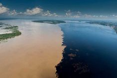 The Sea Barrier Miracle Where Two Oceans Meet But Do Not Mix. Gulf of Alaska! Two Oceans Meet, Gulf Of Alaska, Visit Brazil, Rivers And Roads, Amazon River, Two Rivers, Photos Du, Bolivia, Canoe Trip