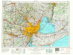 Detroit, MI—1965. Map from the USGS Historical Topographic Map Collection, scale…