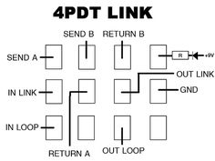 true bypass looper led dpdt switch wiring diagram. Black Bedroom Furniture Sets. Home Design Ideas