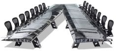 MotoArt's Vintage AircraftParts conference table