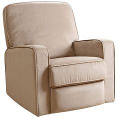 Bella Beige Fabric Swivel Glider Recliner Chair - Style # 9G843