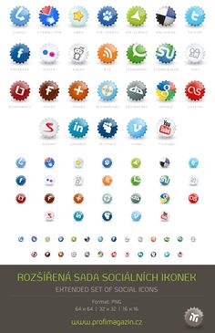 Imagery Investigation: Cool bottle-cap-like icons.